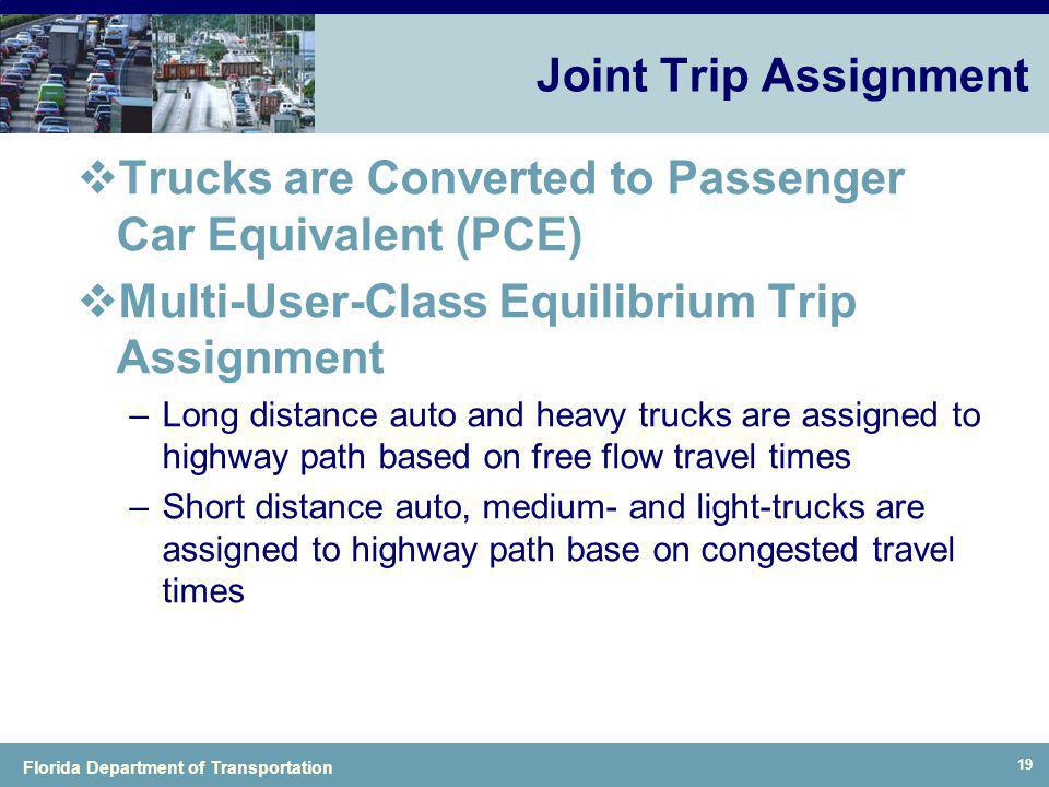 Trucks are Converted to Passenger Car Equivalent (PCE)