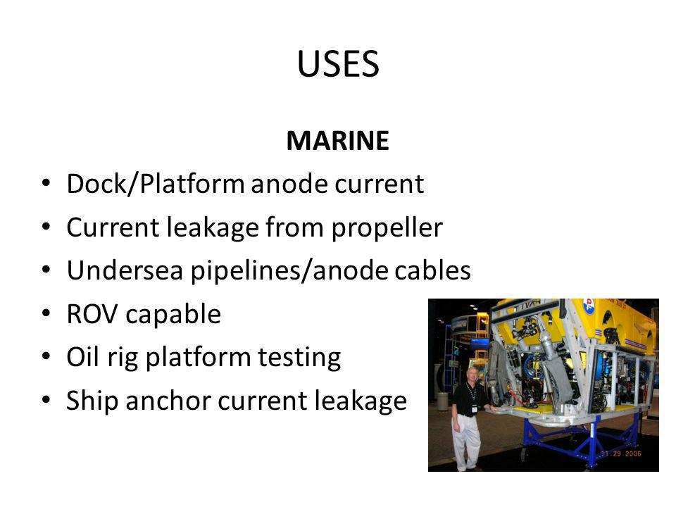 USES MARINE Dock/Platform anode current Current leakage from propeller