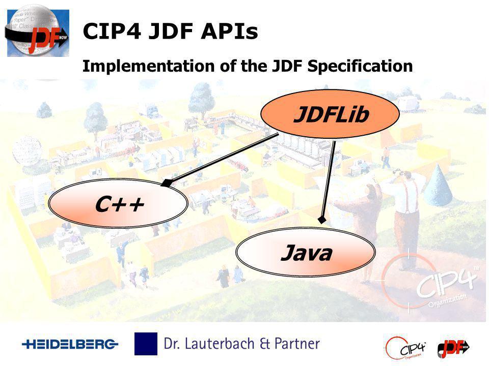 CIP4 JDF APIs JDFLib C++ Java Implementation of the JDF Specification