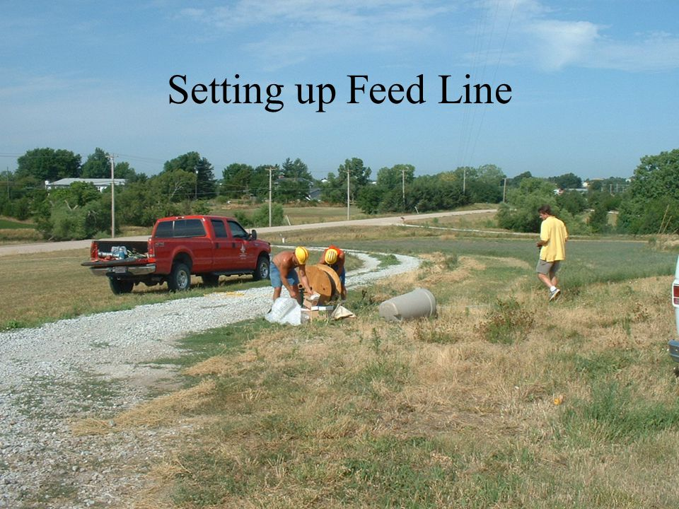 Setting up Feed Line