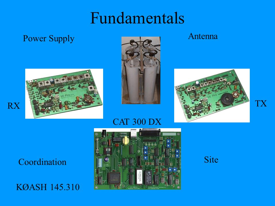 Fundamentals Antenna Power Supply TX RX CAT 300 DX Site Coordination