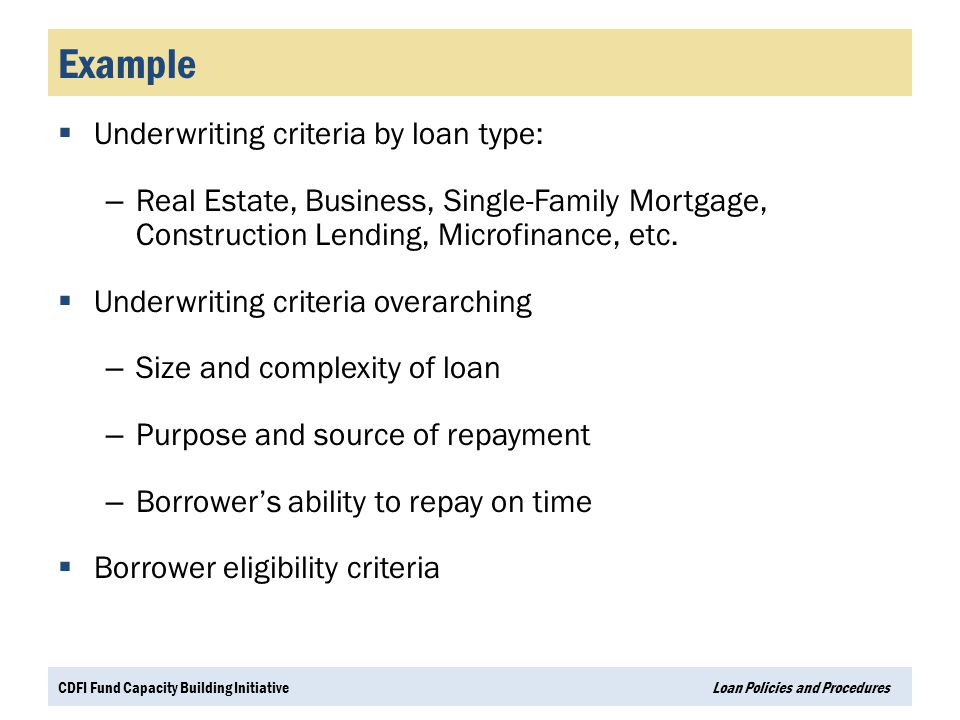 Types of underwriting