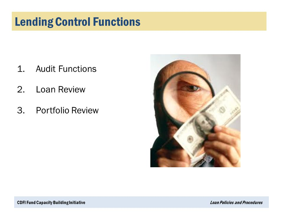 Lending Control Functions