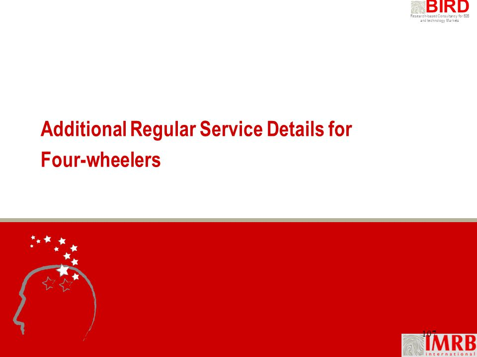 Additional Regular Service Details for Four-wheelers
