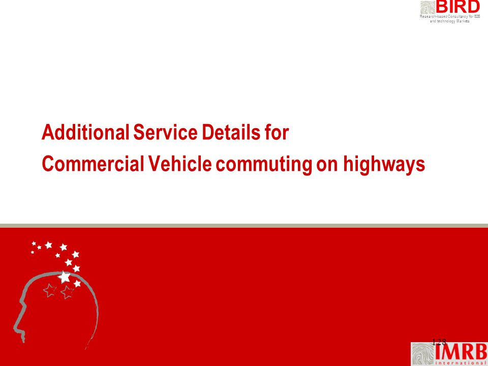 Additional Service Details for Commercial Vehicle commuting on highways