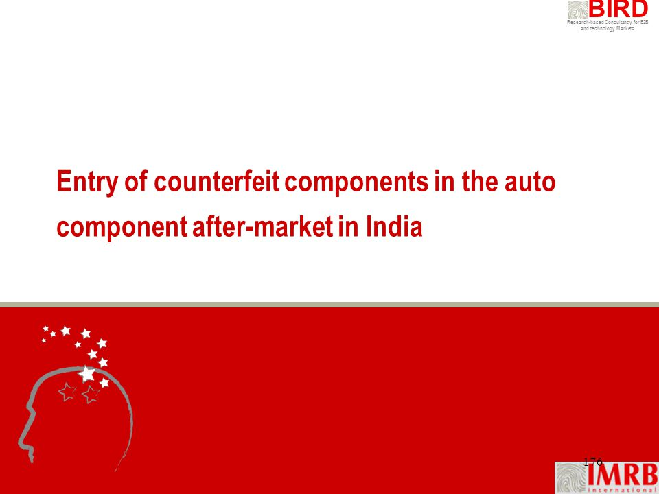 Entry of counterfeit components in the auto component after-market in India