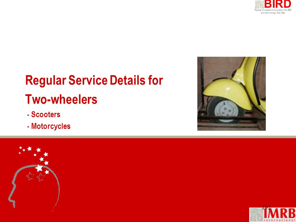 Regular Service Details for Two-wheelers - Scooters - Motorcycles