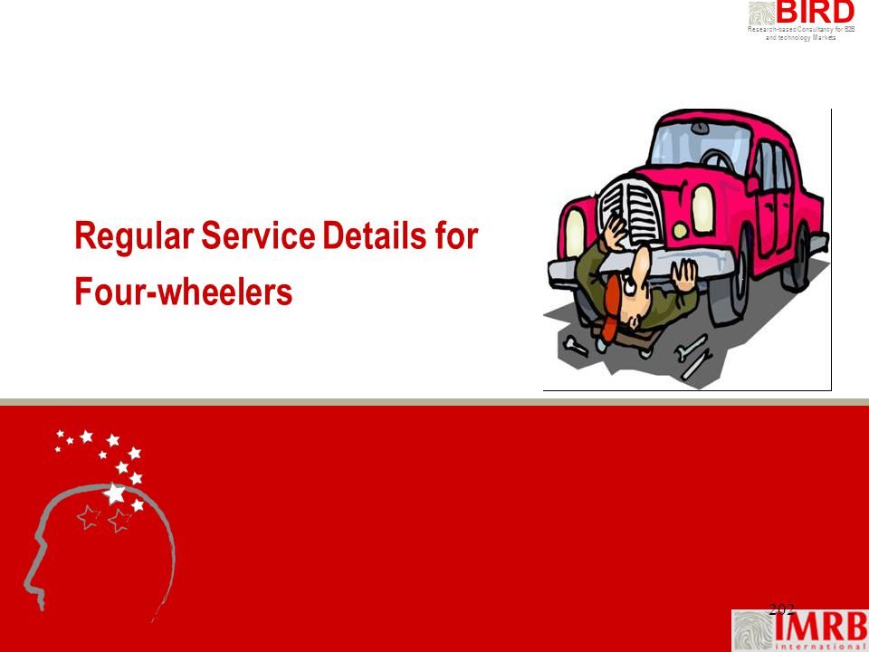 Regular Service Details for Four-wheelers