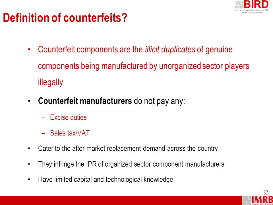 Definition of counterfeits