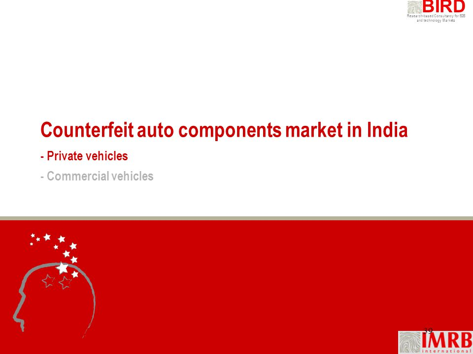 Counterfeit auto components market in India - Private vehicles - Commercial vehicles