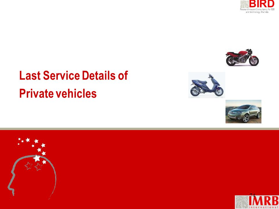 Last Service Details of Private vehicles