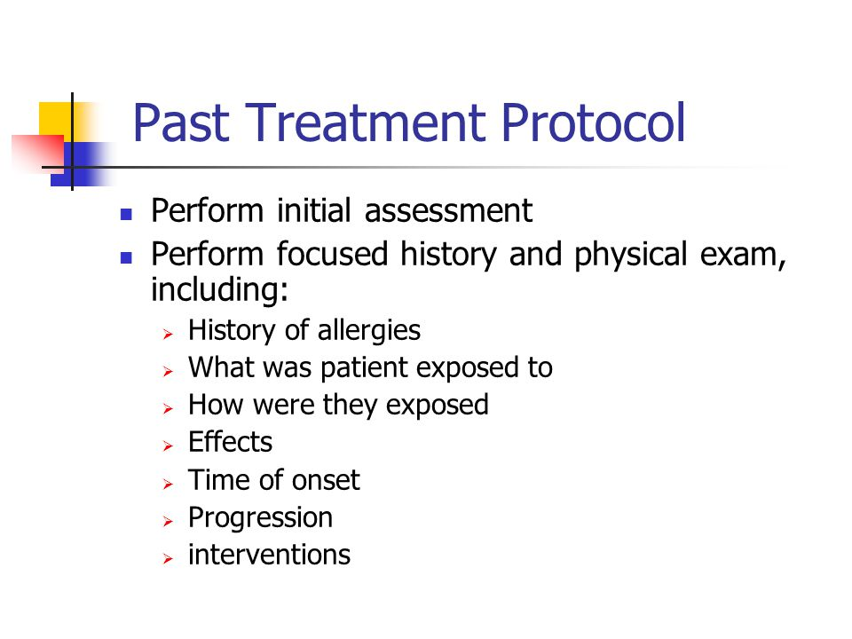 Past Treatment Protocol