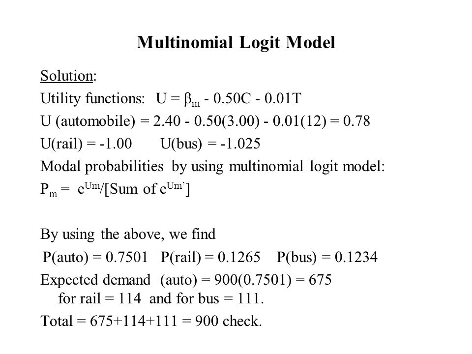 Multinomial Logit Model