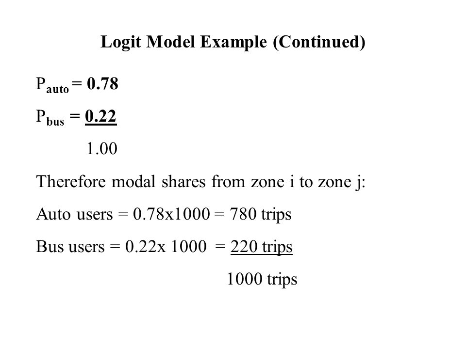 Logit Model Example (Continued)