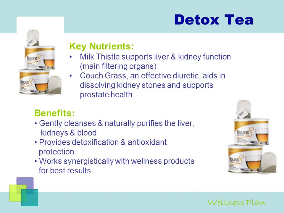 Detox Tea Key Nutrients: Benefits: Wellness Plan