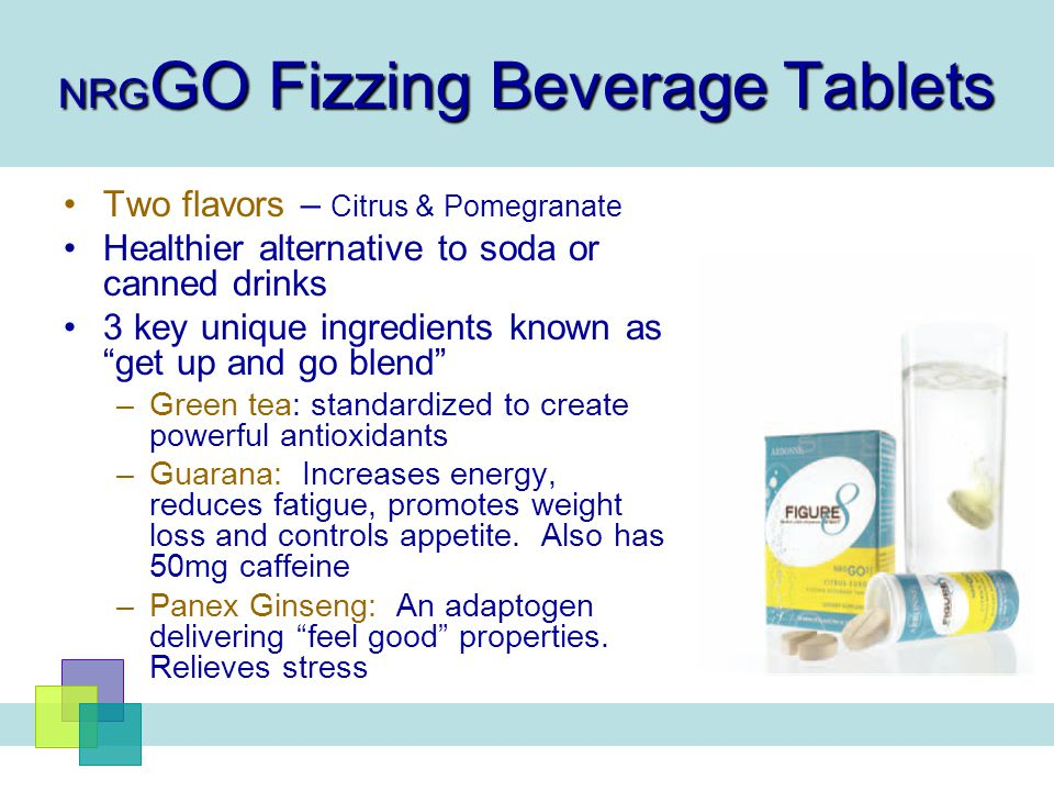 NRGGO Fizzing Beverage Tablets
