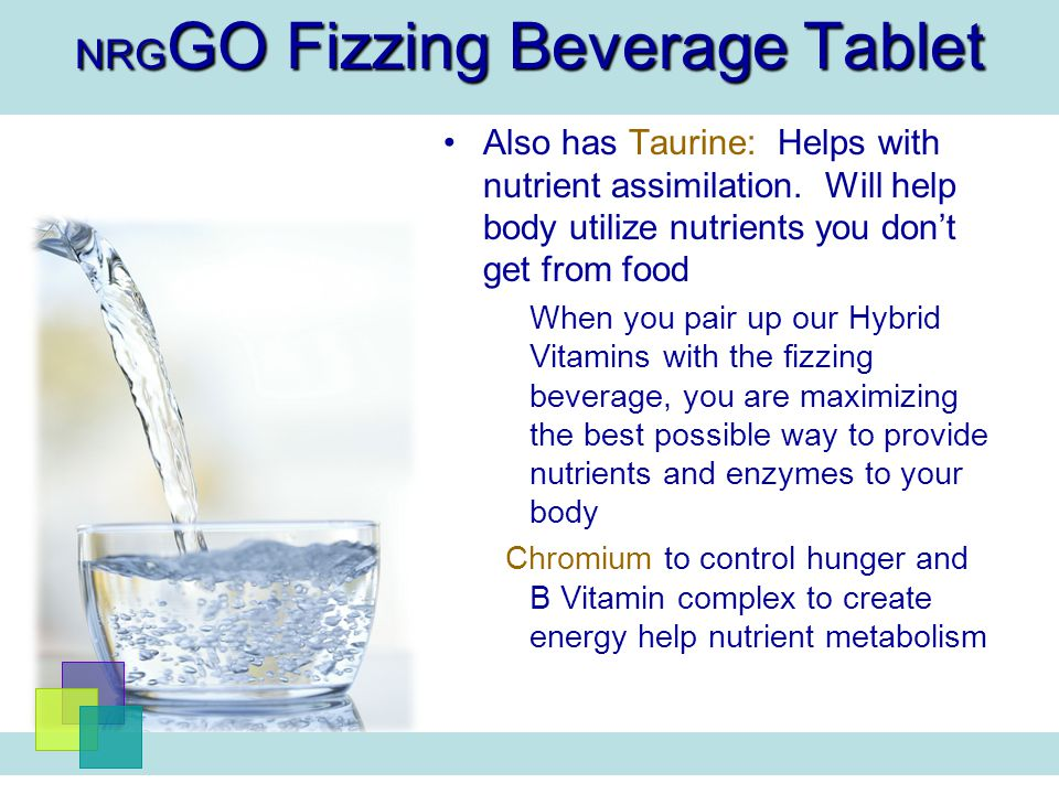 NRGGO Fizzing Beverage Tablet