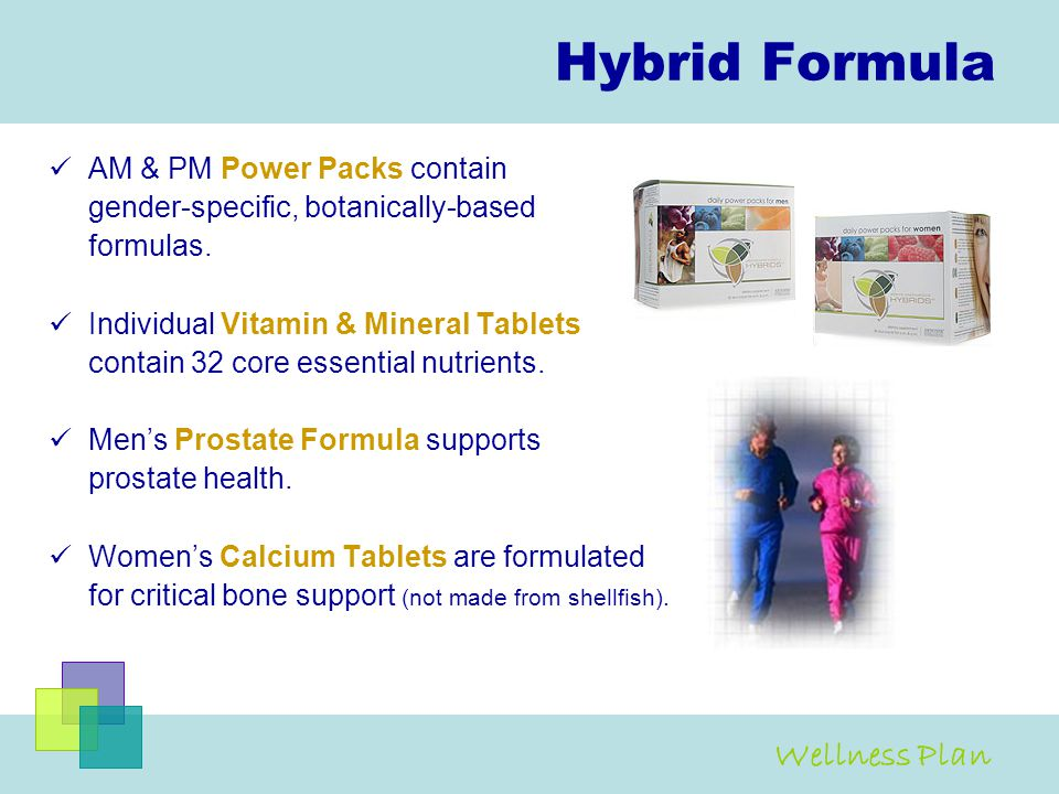 Hybrid Formula Wellness Plan AM & PM Power Packs contain