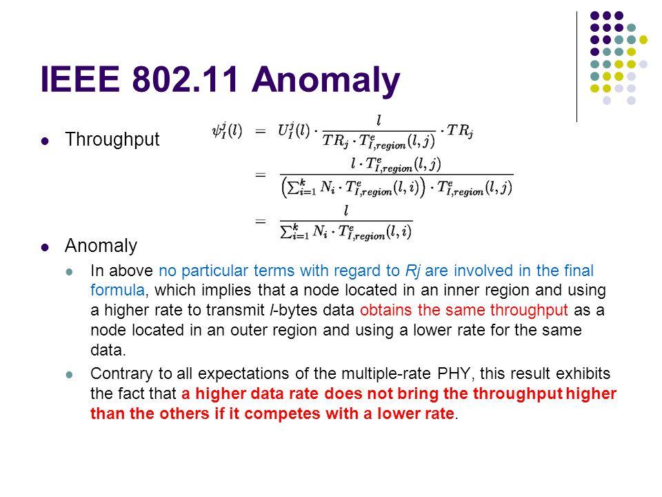 IEEE 802.11 Anomaly Throughput Anomaly