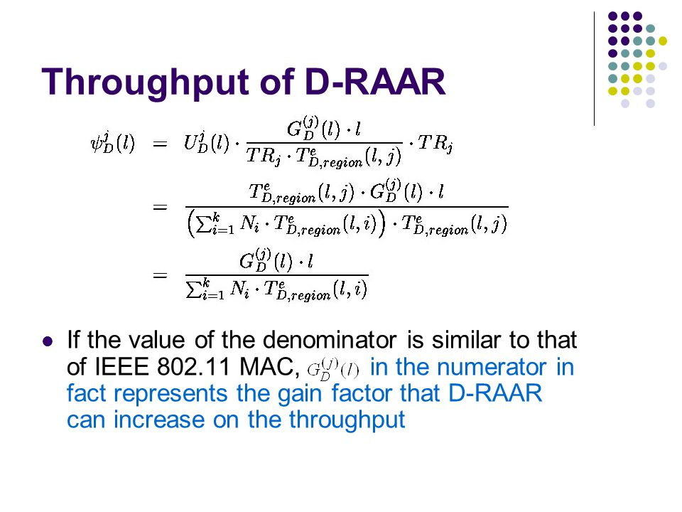Throughput of D-RAAR