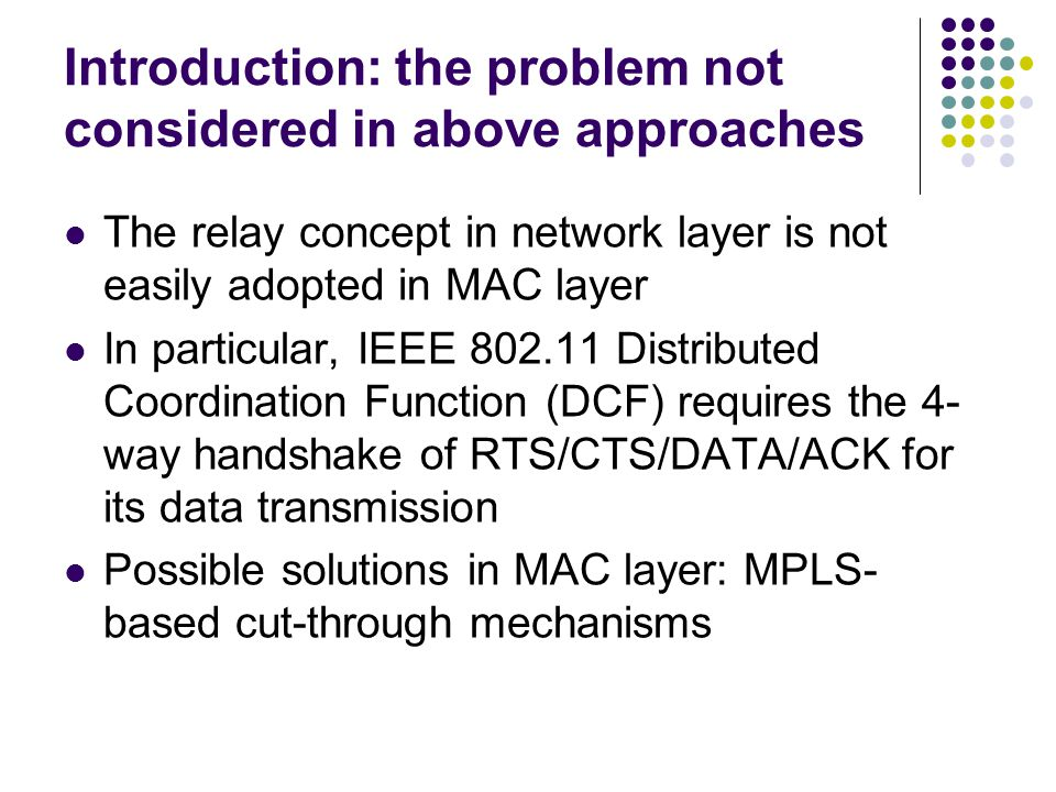 Introduction: the problem not considered in above approaches