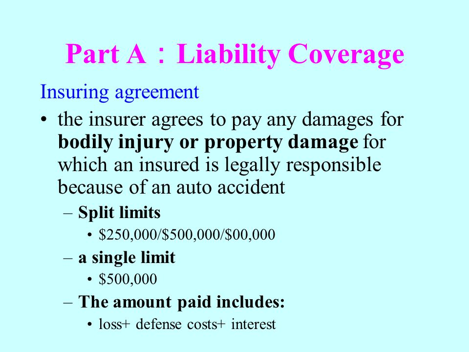 Part A:Liability Coverage
