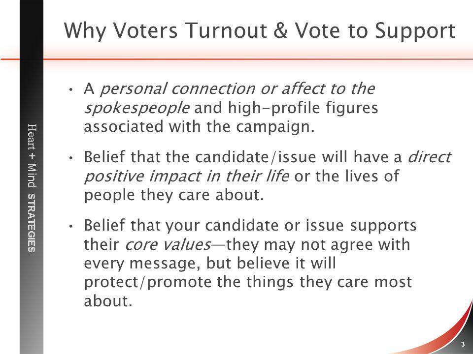 Why Voters Turnout & Vote to Support