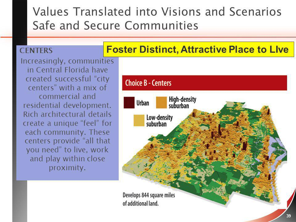 Values Translated into Visions and Scenarios Safe and Secure Communities
