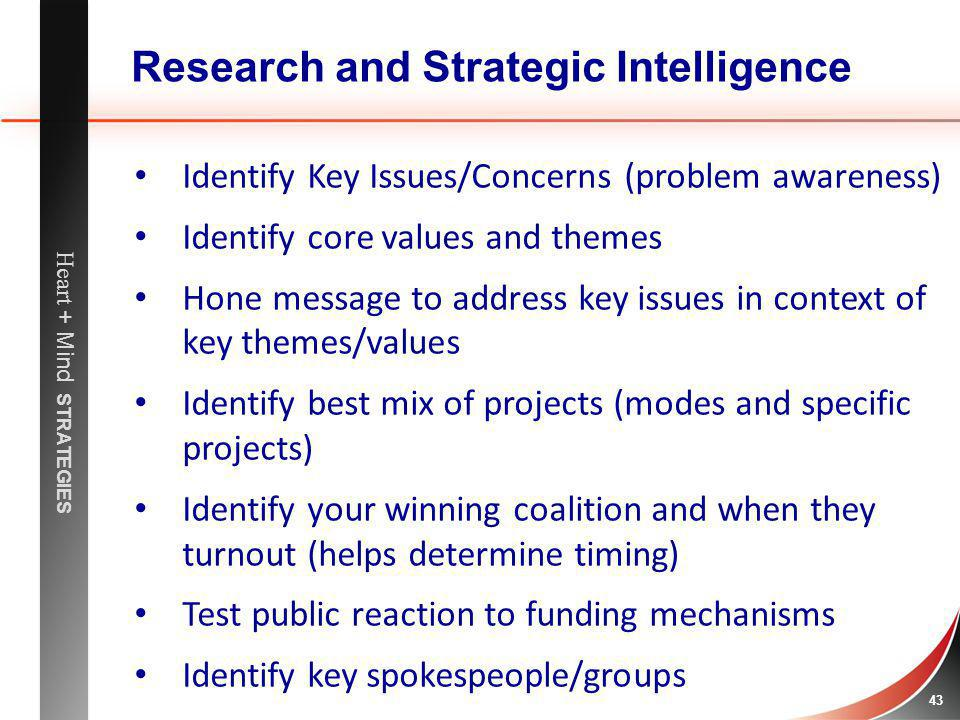 Research and Strategic Intelligence
