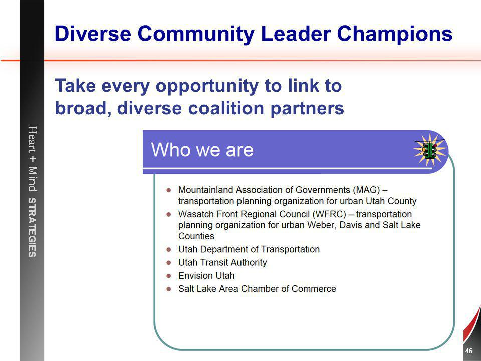 Diverse Community Leader Champions