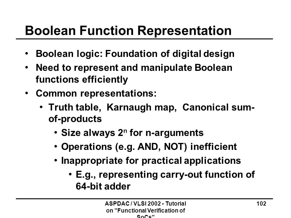 Boolean Function Representation