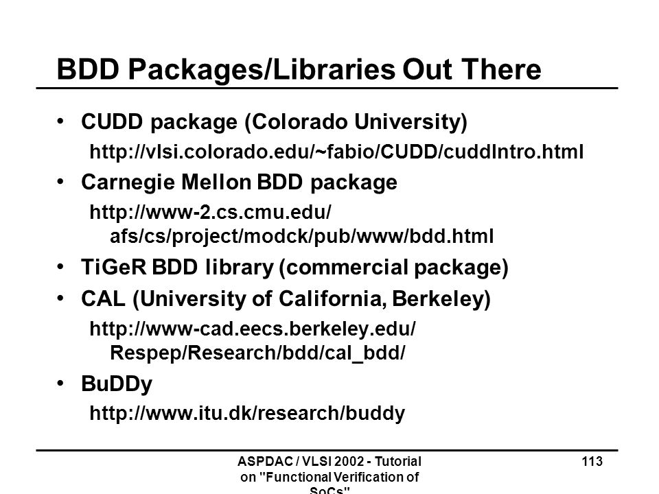 BDD Packages/Libraries Out There