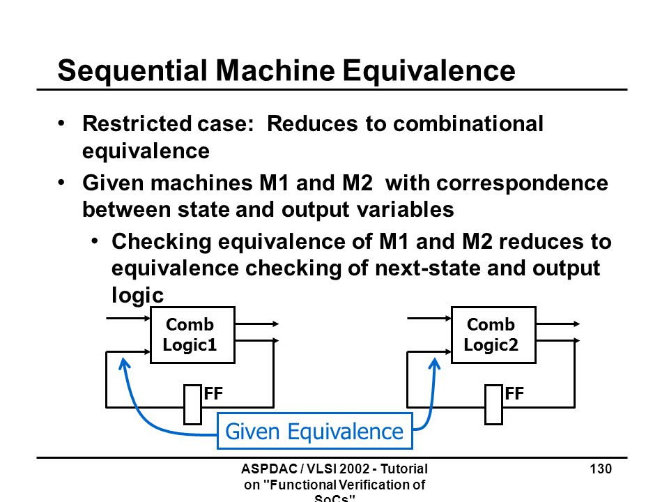 Sequential Machine Equivalence