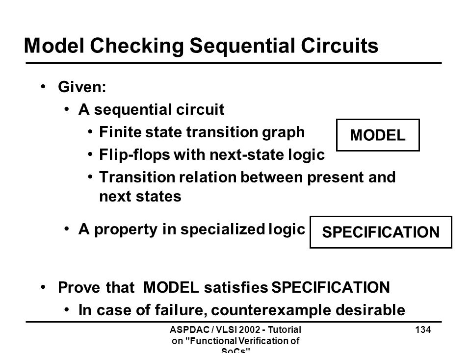 Model Checking Sequential Circuits