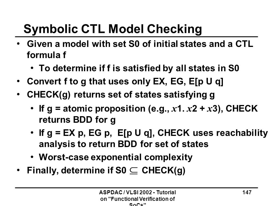 Symbolic CTL Model Checking