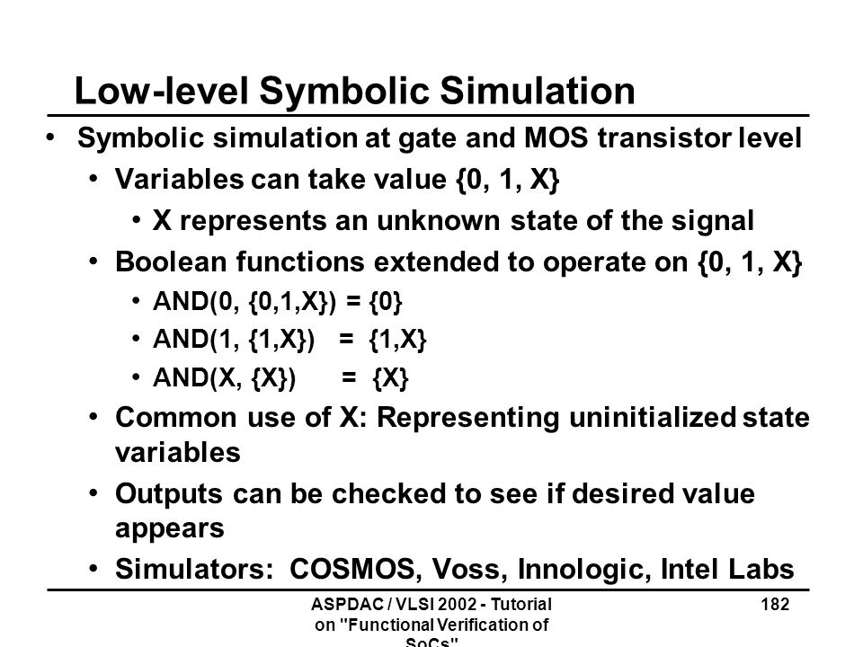 Low-level Symbolic Simulation