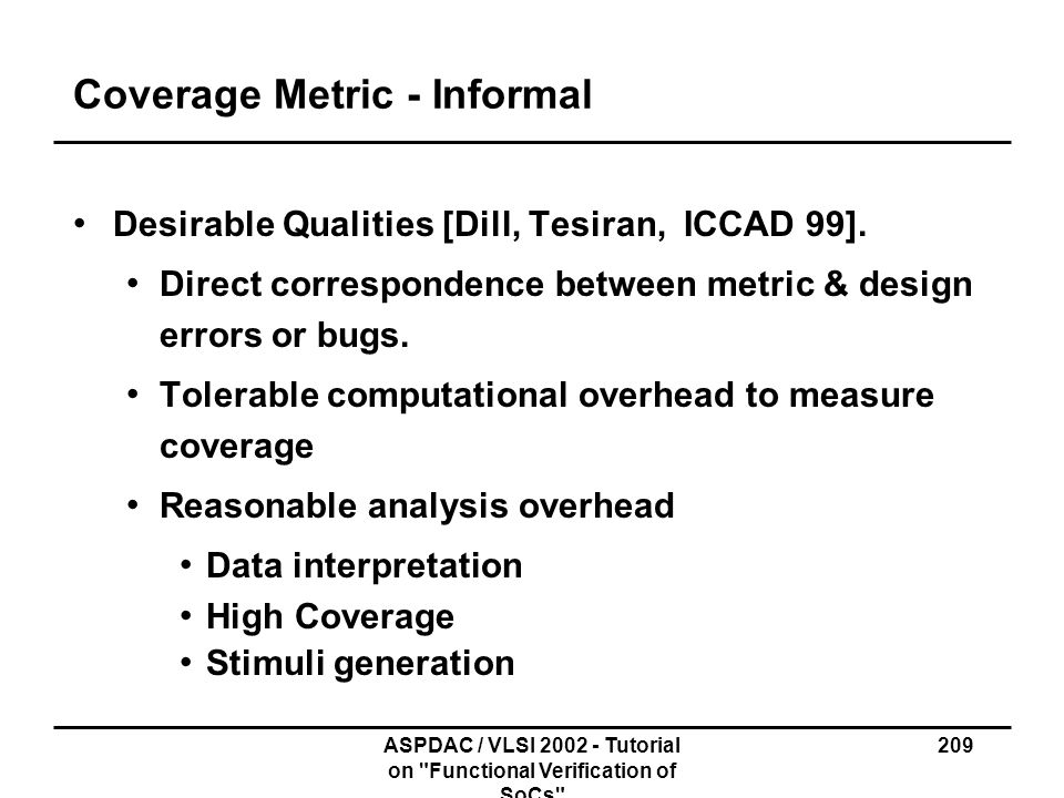 Coverage Metric - Informal