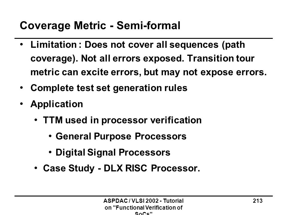 Coverage Metric - Semi-formal