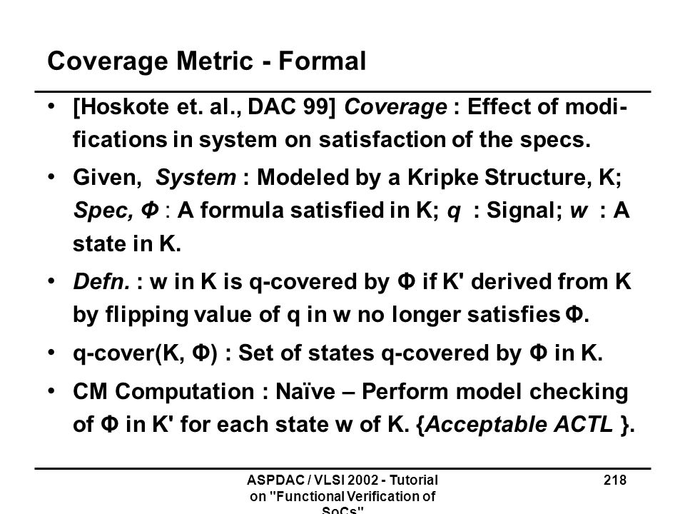 Coverage Metric - Formal