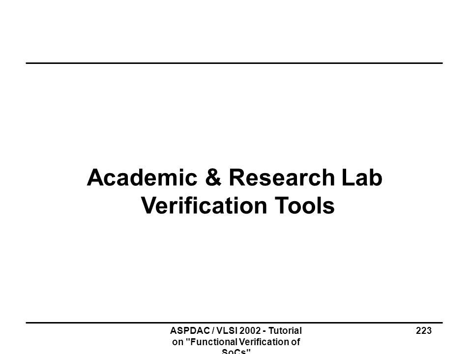 Academic & Research Lab Verification Tools