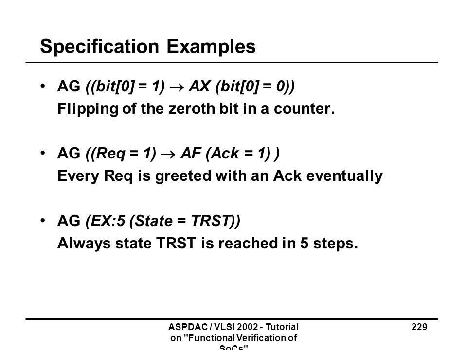 Specification Examples