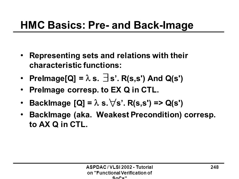 HMC Basics: Pre- and Back-Image