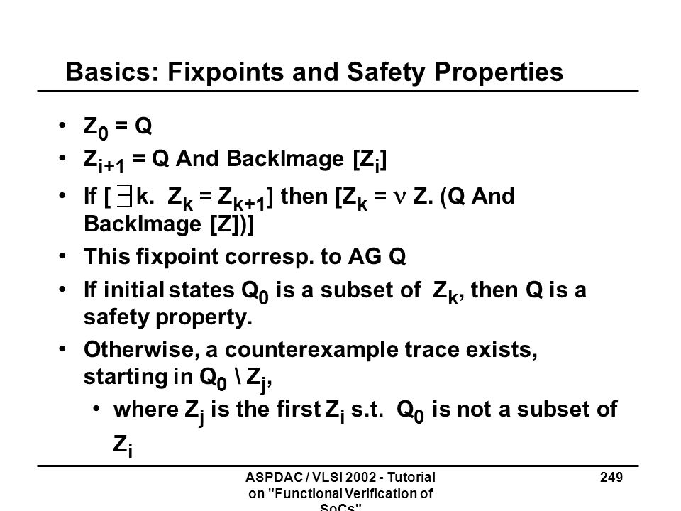 Basics: Fixpoints and Safety Properties