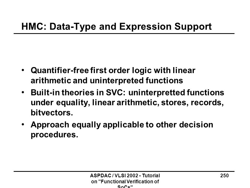 HMC: Data-Type and Expression Support