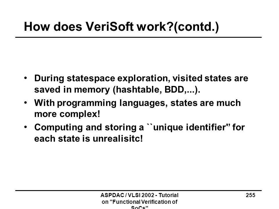 How does VeriSoft work (contd.)
