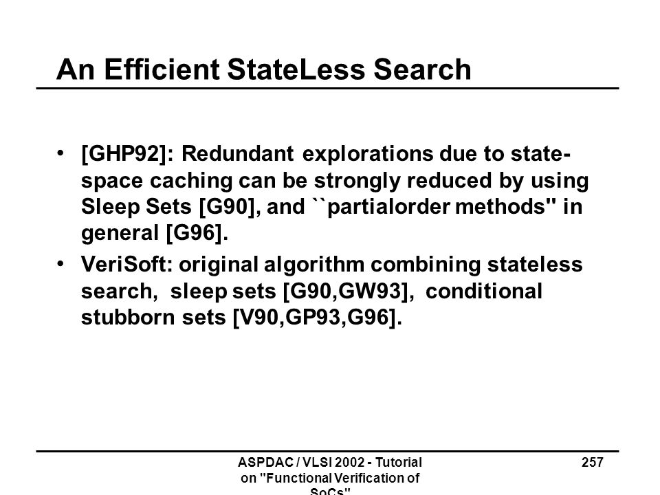 An Efficient State­Less Search