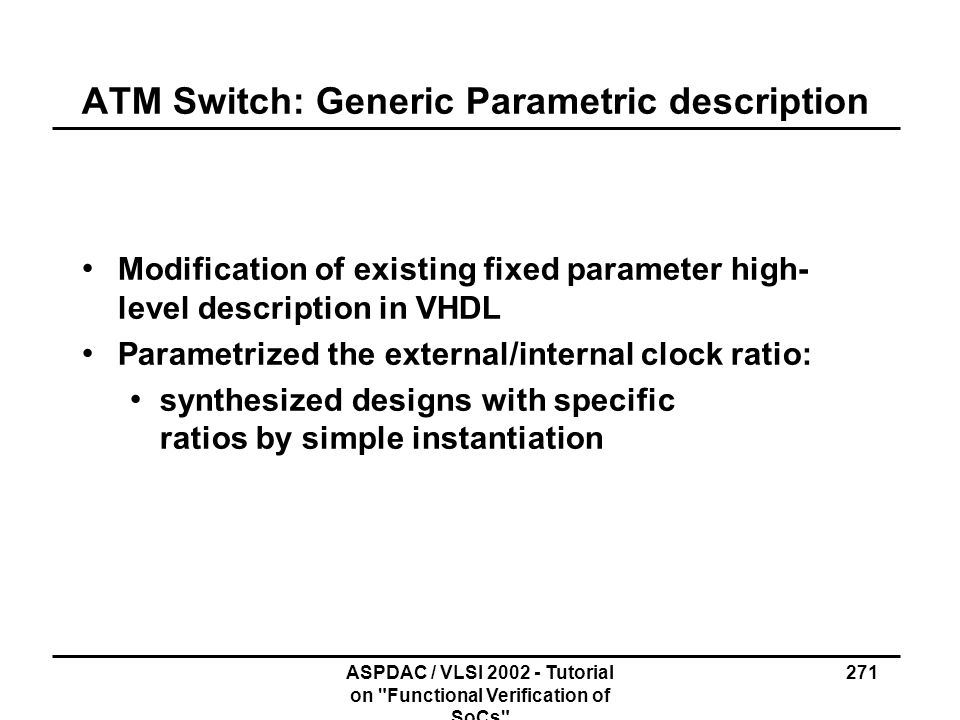 ATM Switch: Generic Parametric description