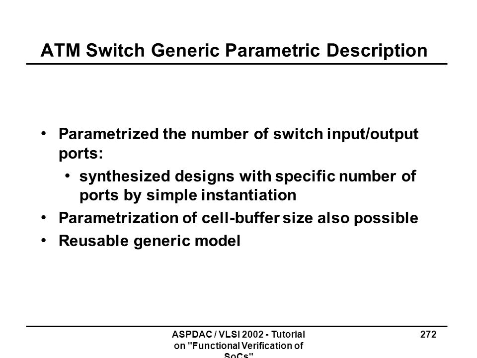 ATM Switch Generic Parametric Description