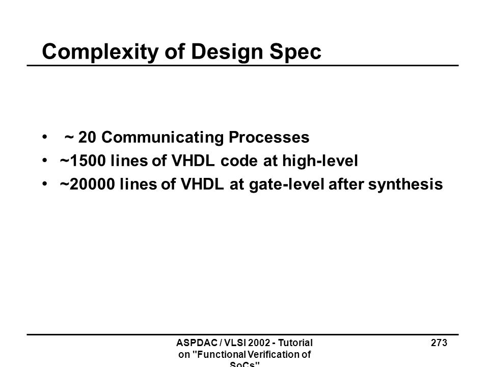 Complexity of Design Spec