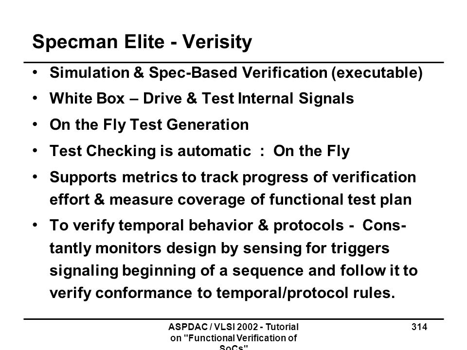 Specman Elite - Verisity